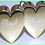Thumbnail: Personalised Double Heart Weight (6)
