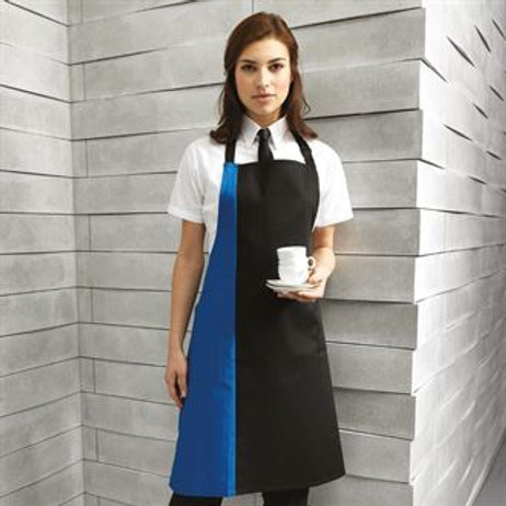 PR162 Contrast bib apron One size