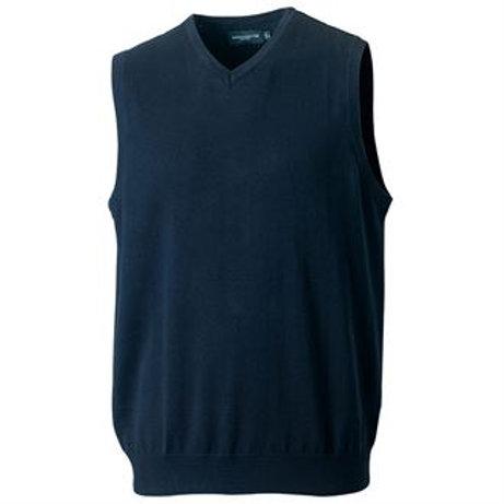 J716M V-neck sleeveless knitted sweater