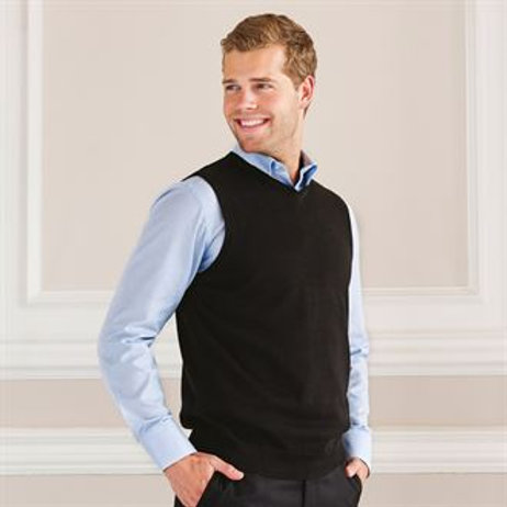 J716M Gents V-neck sleeveless knitted sweater