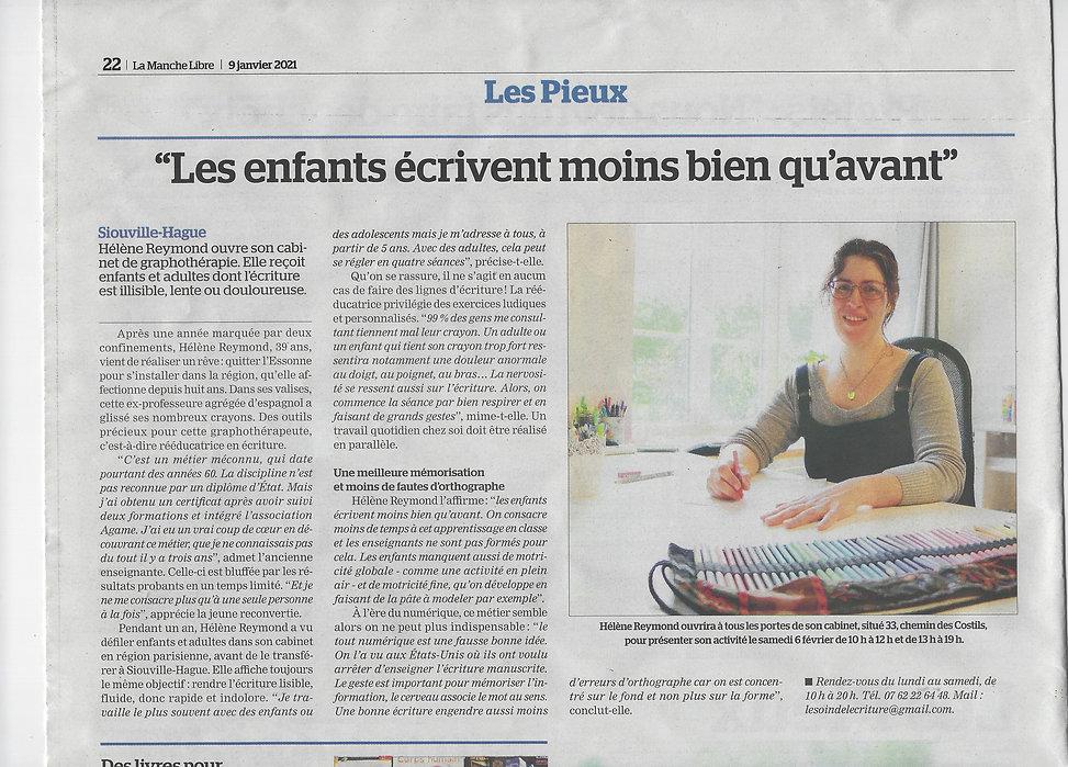 Article La Manche Libre 09.01.2021.jpeg.