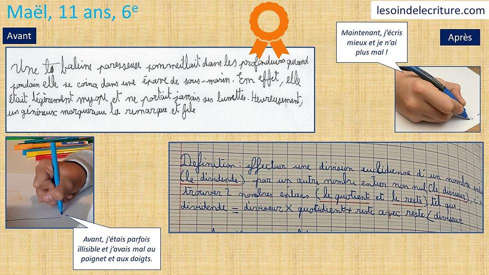 Diplôme Maël graphothérapie rééducation