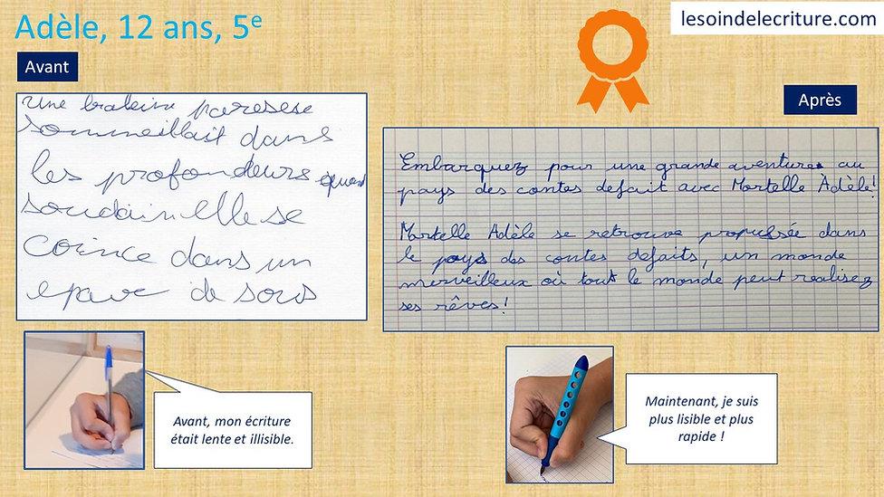 Dipôme Adèle graphothérapie rééducation
