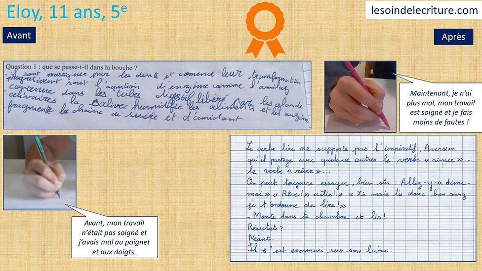 Diplôme Eloy rééducation écriture grapho