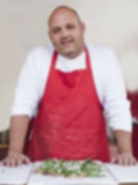 Chef med Pizza