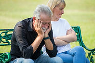 senior couple having problems in relatio
