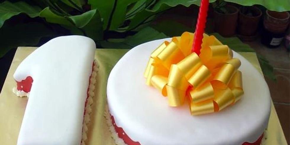 15c. 10th Anniversary Celebration . Coffee/tea  and Cake