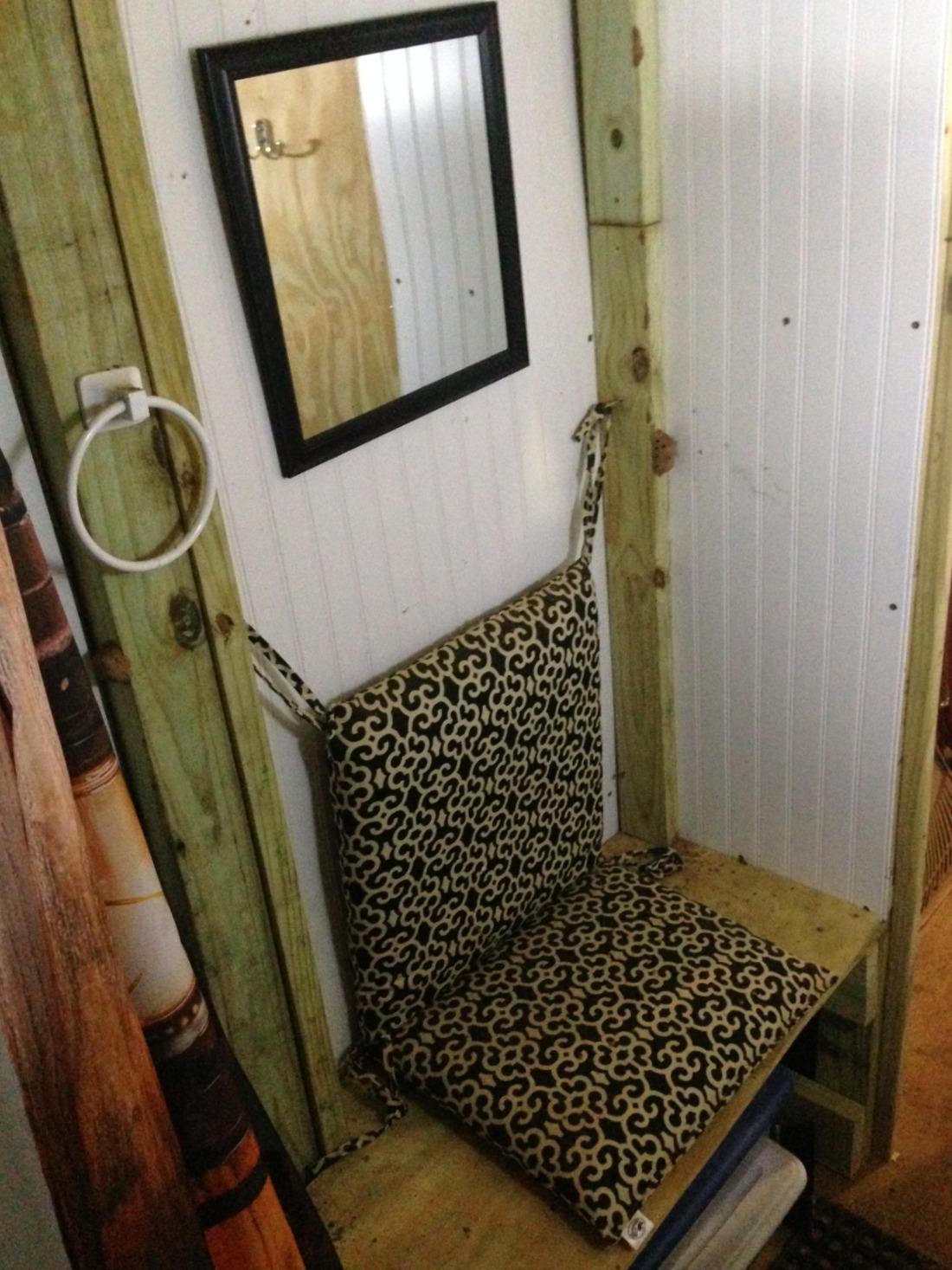 Seating Area inside Shower Room
