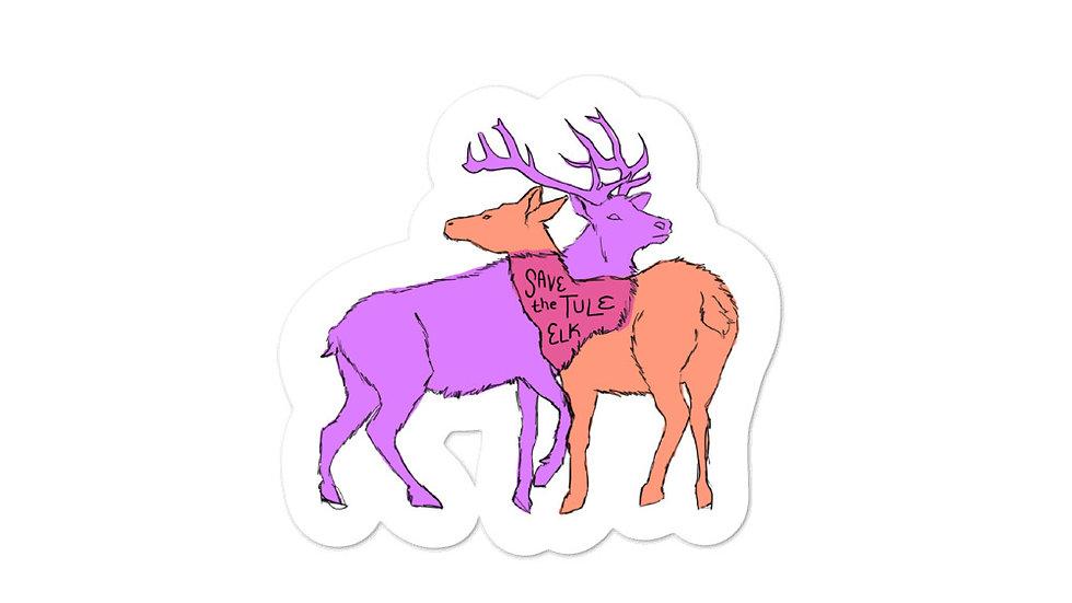 Save the Tule Elk Sticker