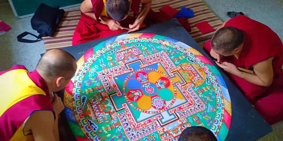 Tibetan Buddhist Sand Mandala Creations, Sacred Music and Dance, Prayers and Chants.