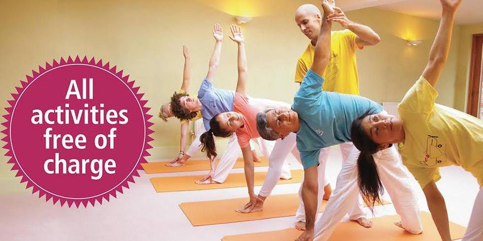 Free Yoga, Meditation, and Vegetarian Cooking Festival