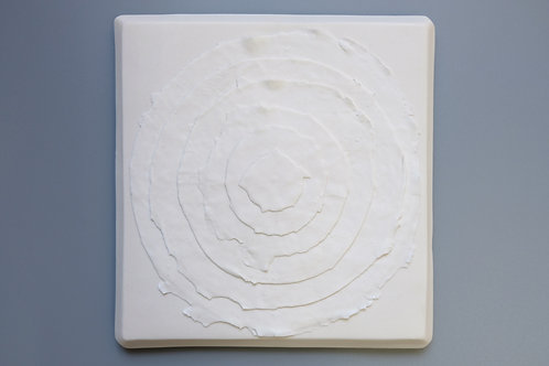 Concentric Circles, White