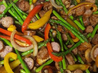One Skillet Sausage and Veggie Stir Fry