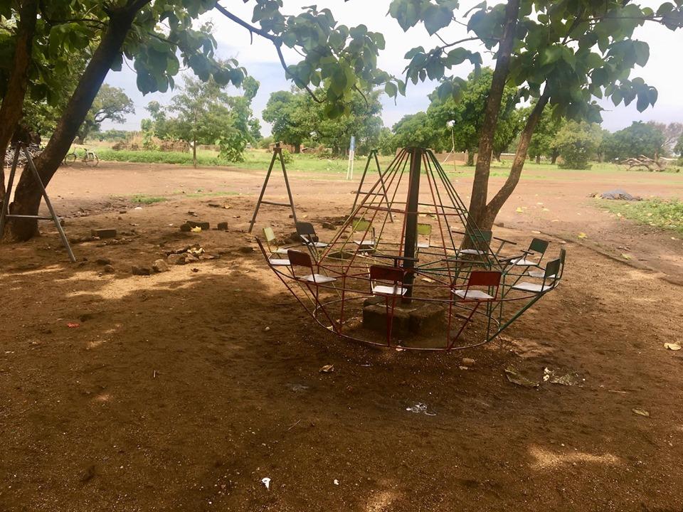 Playground at the school.