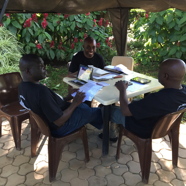 Sub-Saharan SE Sub-Region Team making plans for the year.