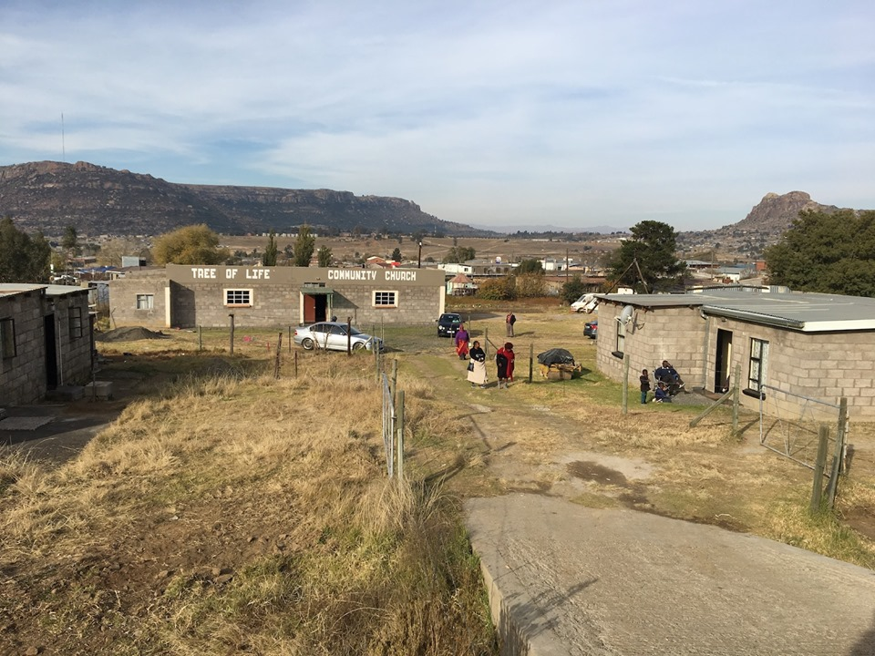 Tree of Life Community Church - our center for training this week. I love the view of the mountains in the background. — in Maseru, Lesotho.