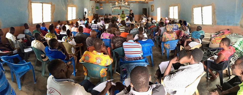 Stephen Aputara teaching. — in Chiana Asunia, Upper East, Ghana.