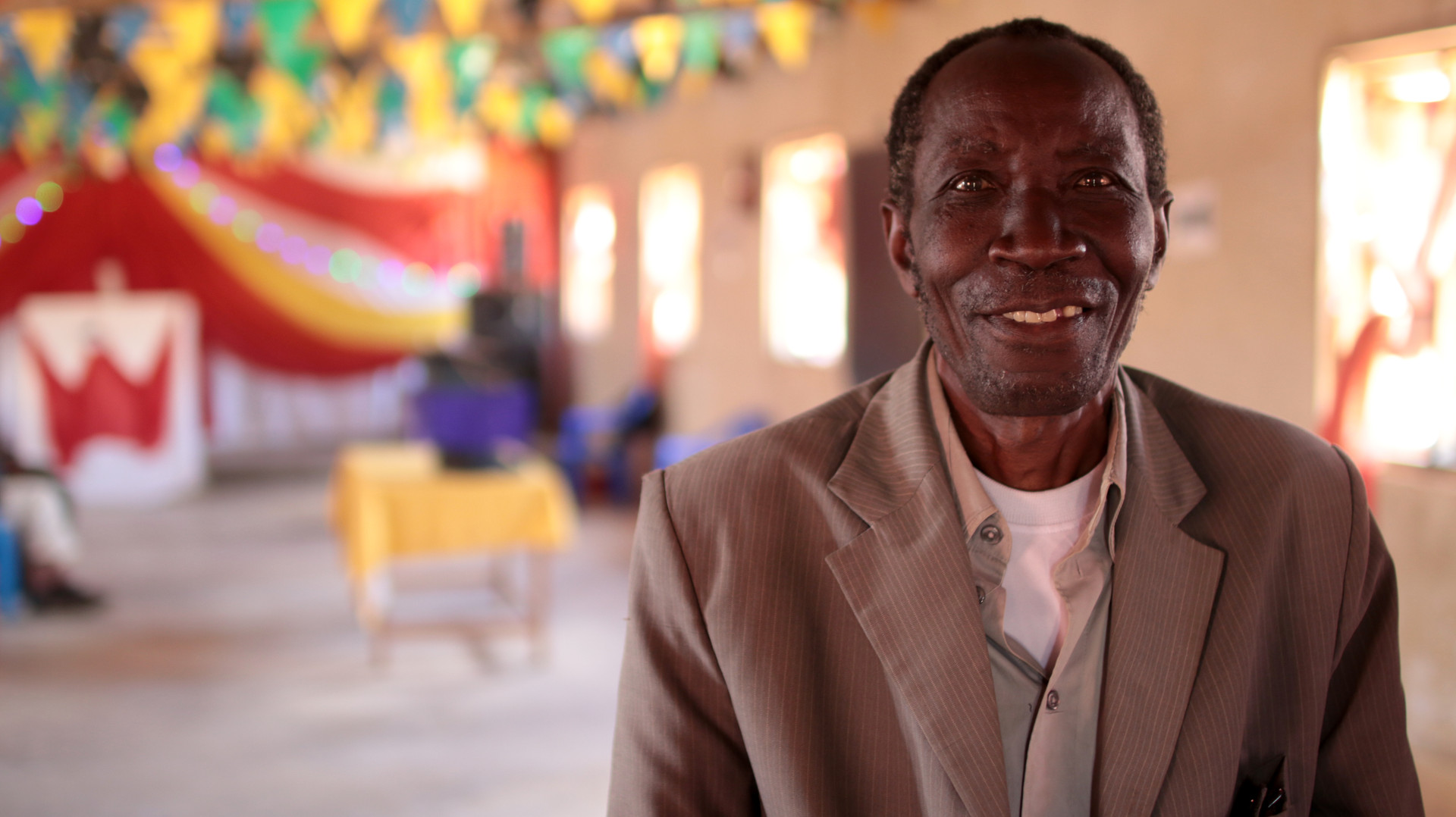 This man came to faith through his wife's witness as she became involved with SI