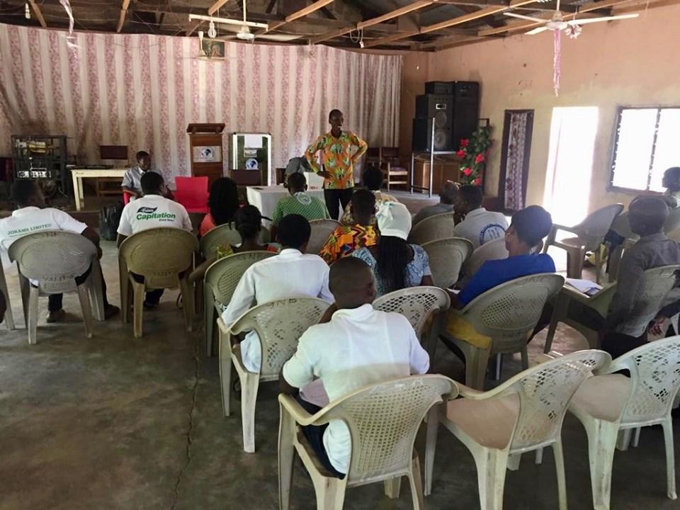 Edward teaching. — with Alemya Edward in Sandema Balansa, Upper East, Ghana.