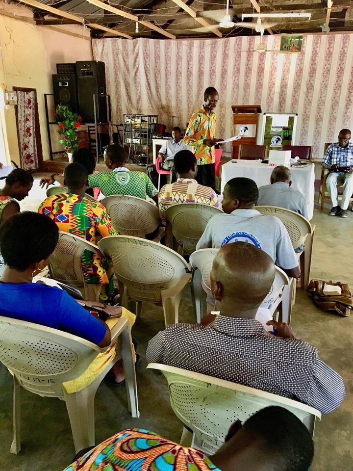 Edward still teaching! He is an excellent teacher! — with Alemya Edward and Stephen Aputara in Sandema Balansa, Upper East, Ghana.