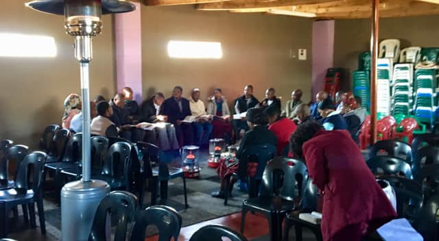 A time of prayer. — in Maseru, Lesotho.