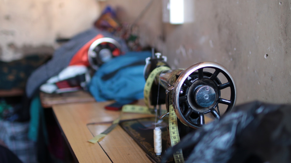 Traditional sewing machines.  They use foot treadles which are not dependent on electricity to operate