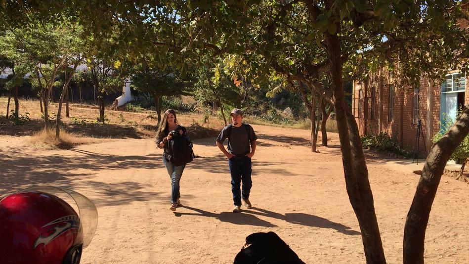 Josh & Sydney walking up after the Iringa meetings