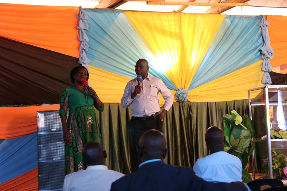 Francis Kaluba Ngosa (Area Director from Luwingu, Zambia) teaching on evangelism