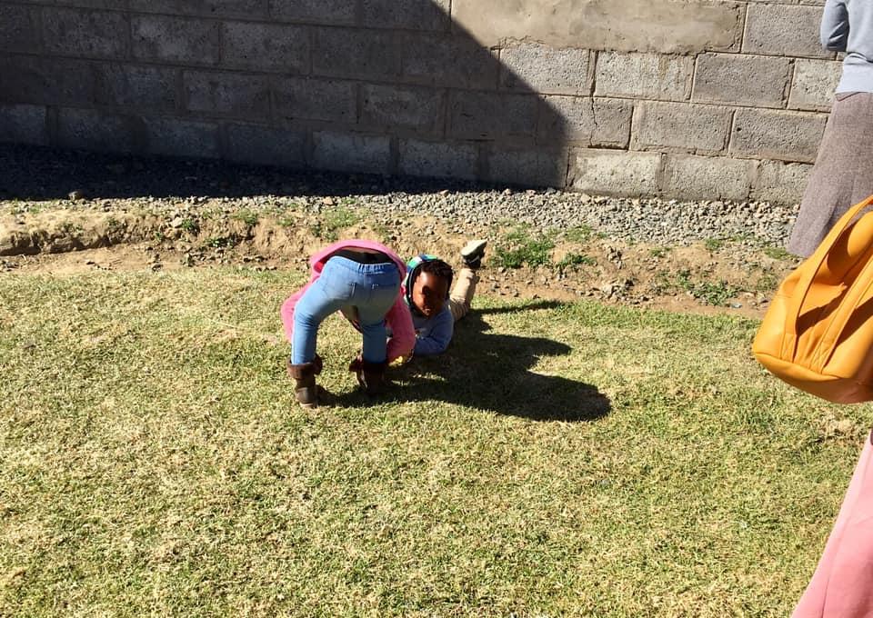 Kiddos playing in the warm sun. — in Maseru, Lesotho.