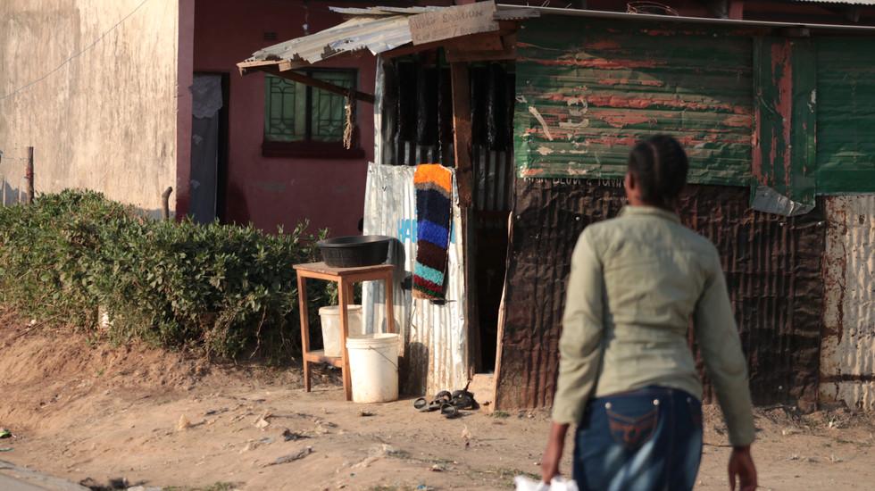 Typical roadside shop in Bauleni