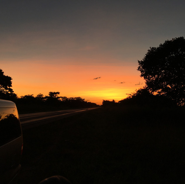Even when stranded, the sunsets are amazing in the bush!
