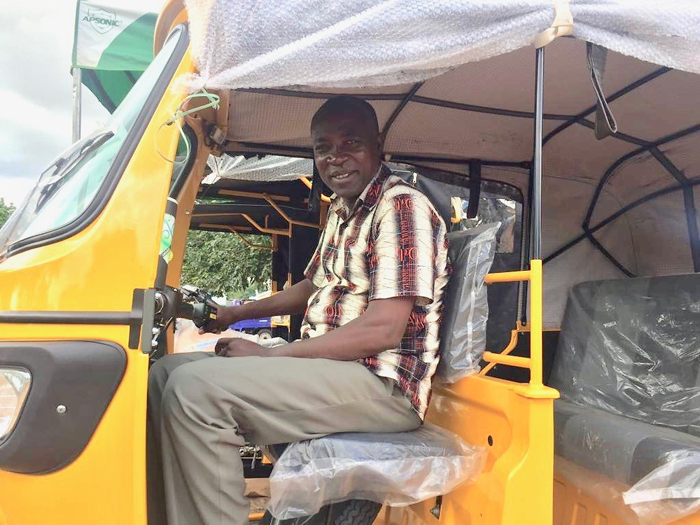 Stephen in one of our Bajaj