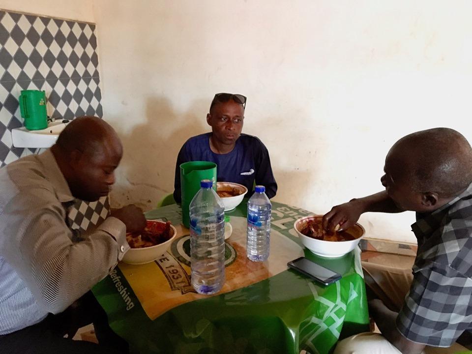 Lunch with Stephen Aputara, Gideon, & Elijah. (eating fufuo)