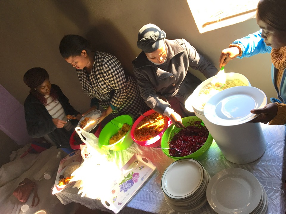 And then... lunch! — in Maseru, Lesotho.