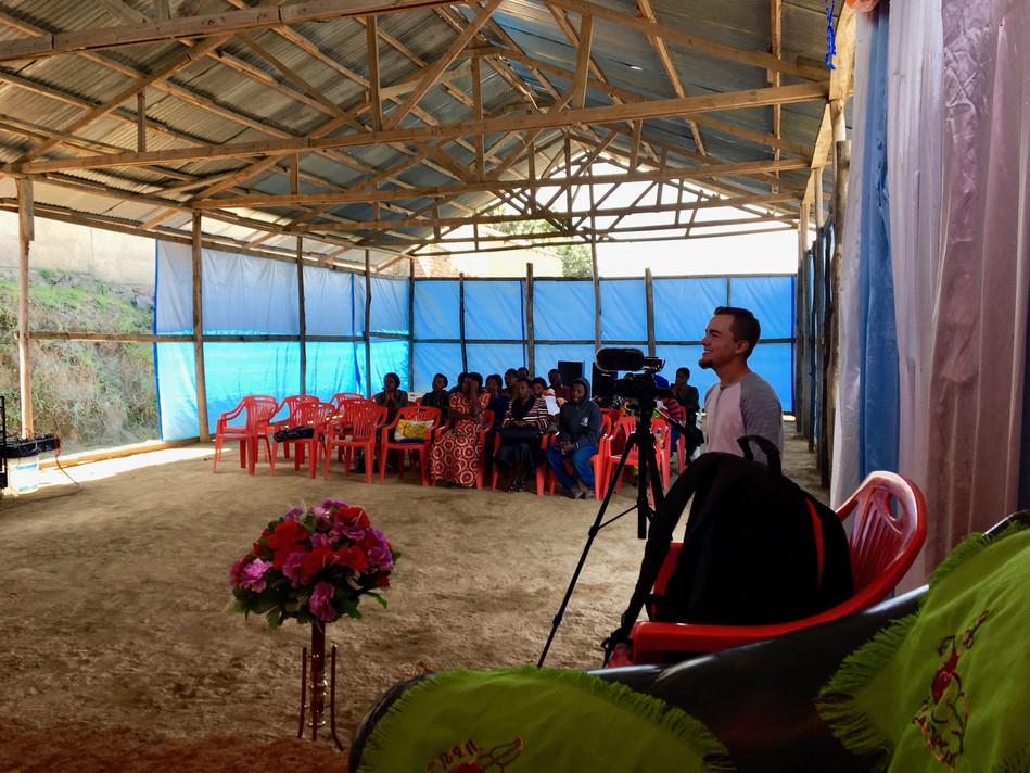 Josh capturing the talks
