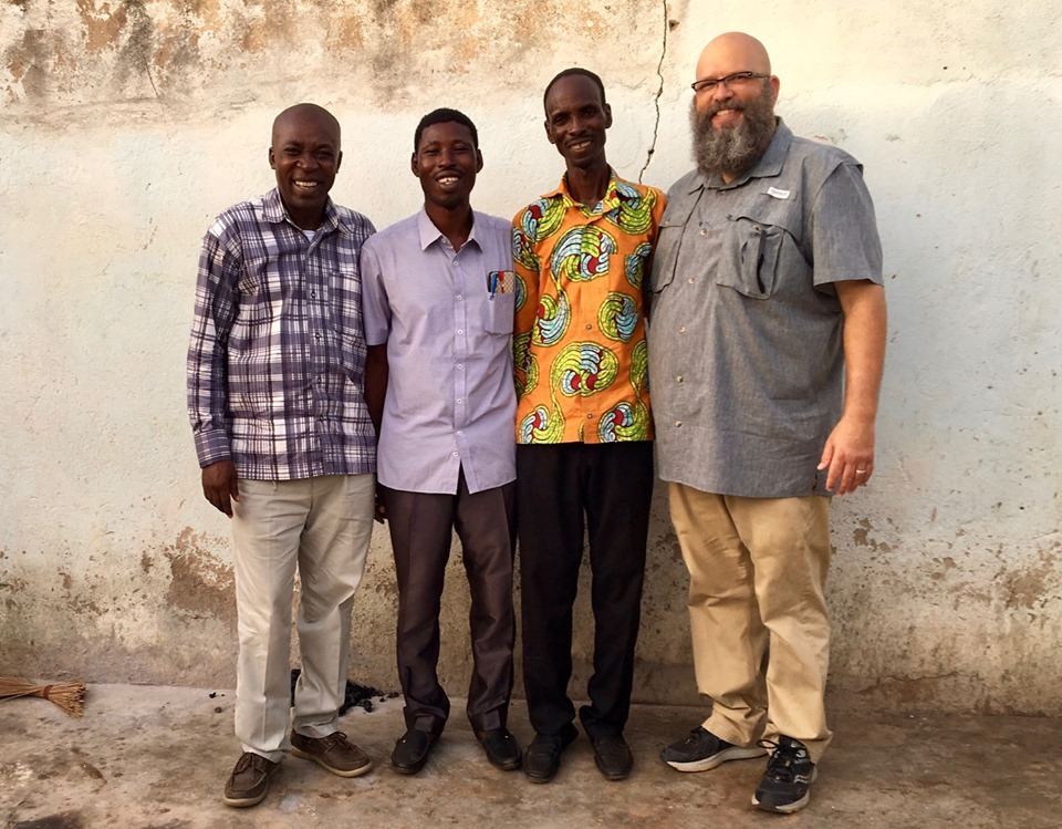 I joined them when we found someone to take the camera. (I'm the one on the right) — with Stephen Aputara, Victor Ouedraogo and Alemya Edward in Navrongo.