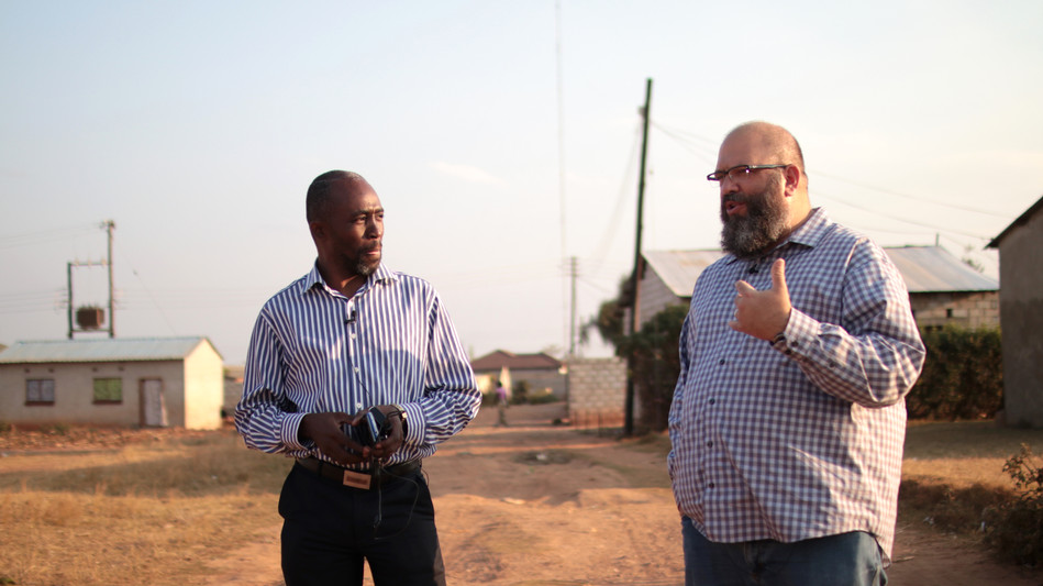Dennis Sitali (Zambia National Director) and I