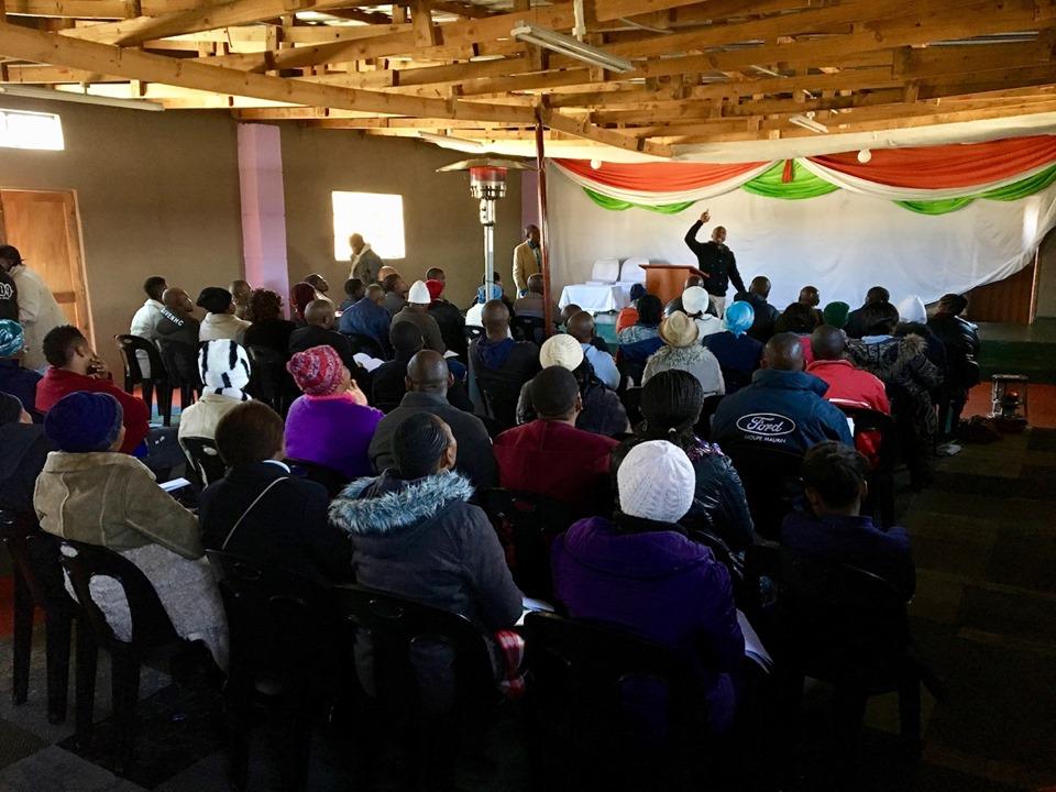 Ntjana Henry Khoabane teaching on Leadership. — in Maseru, Lesotho.