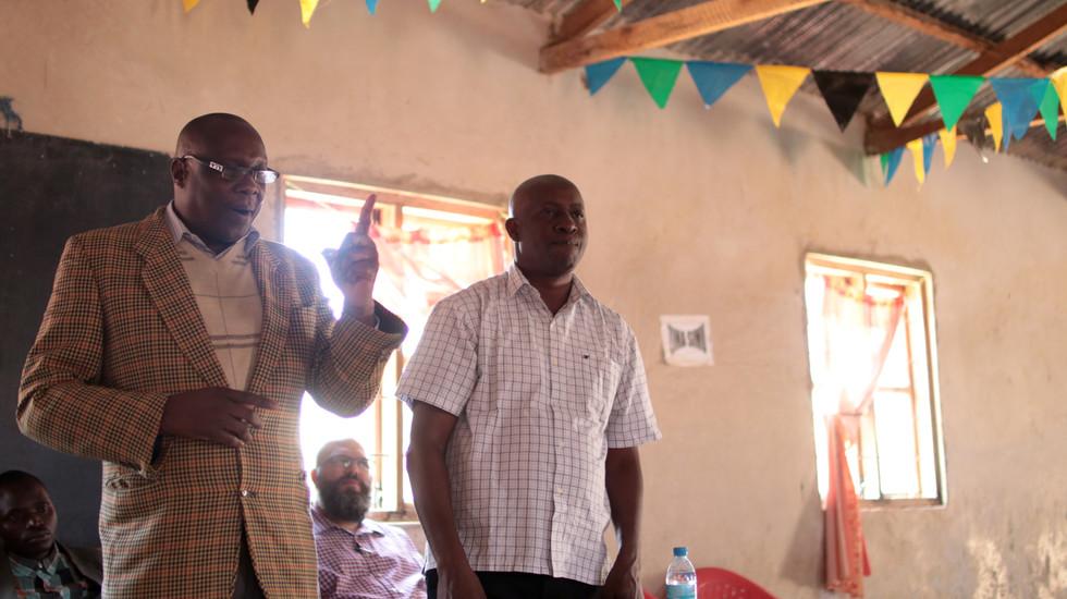 Azikiwe teaching in Mafinga