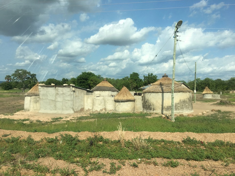 A family compound nearer to the road. — in Ghana.