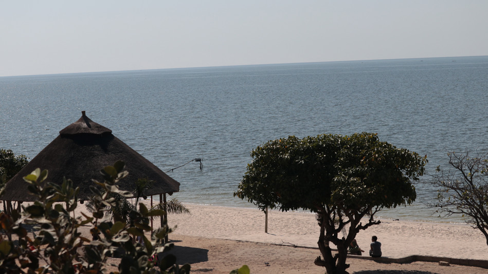 The beach at Lake Bangweulu