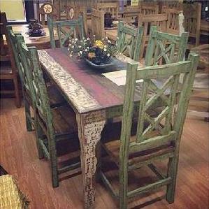 5u0027 Cabana Table Set W/6 Chairs