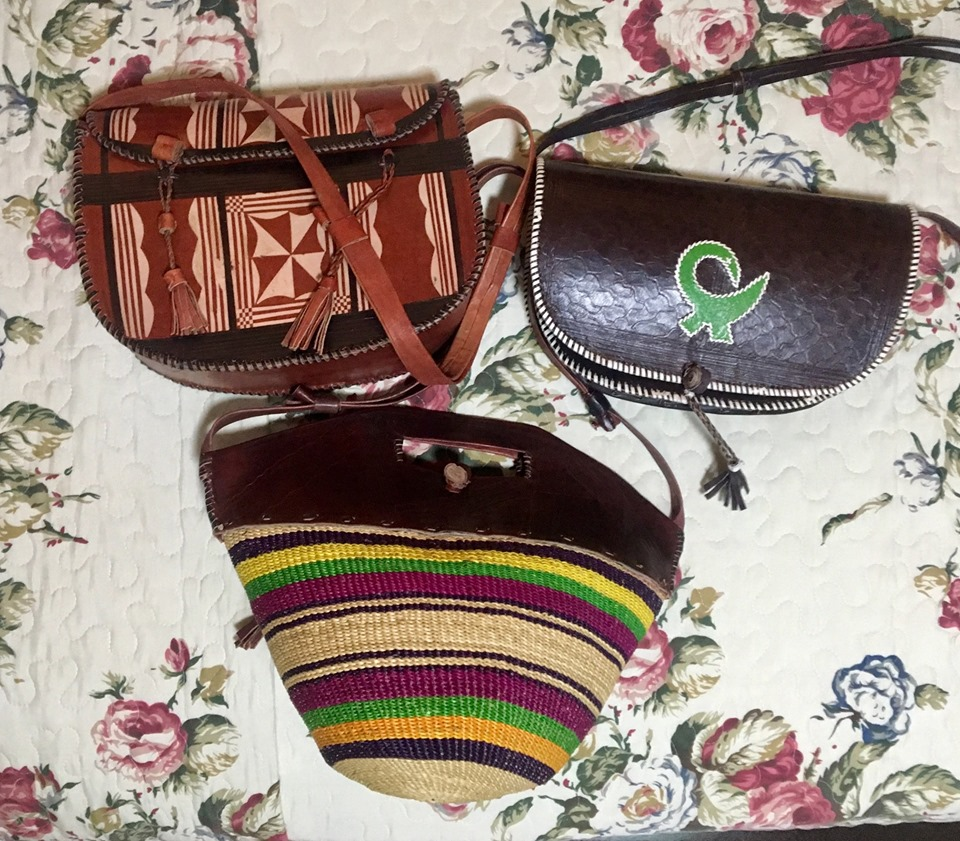 Some of the upcoming items for our next Celebrate Through The Nations Dinner & Extravaganza in 2020. Hand woven bags from Ghana!