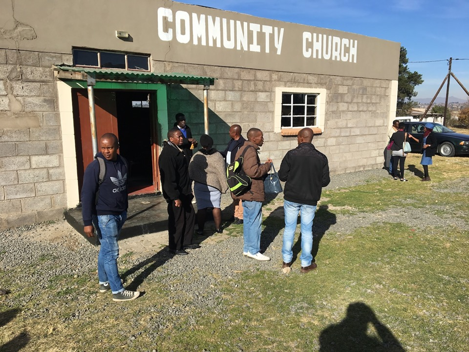 Teams gathering to head out into their communities. — in Maseru, Lesotho.