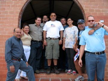 With the team in Bocono, Venezuela