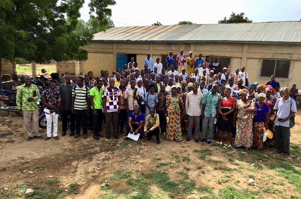 Today's group of Pastors & Leaders. — in Chiana Asunia, Upper East, Ghana.