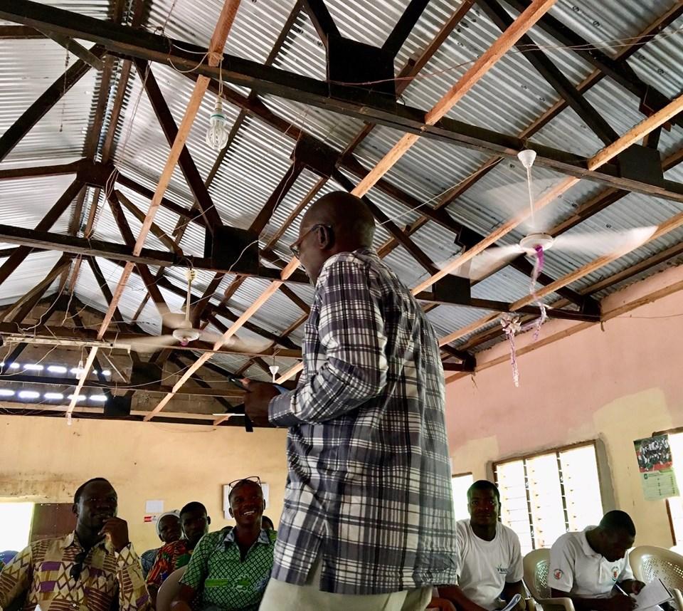 Stephen Aputara - the man himself! — in Sandema Balansa, Upper East, Ghana.