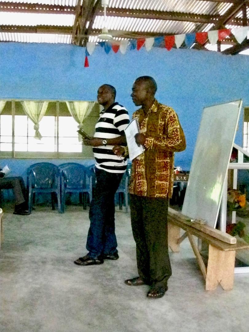 Teaching in Novrongo, Ghana