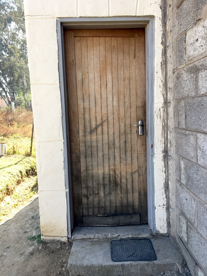 One of the doors of the church. This one leads to the kitchen area. — in Maseru, Lesotho.