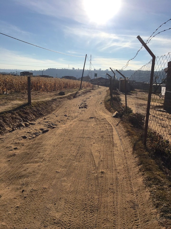 The road to the community my team is reaching out to. — in Maseru, Lesotho.